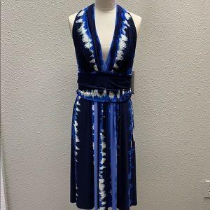 NWT Maggy London blue halter dress size 14